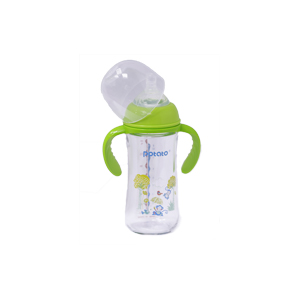 Potato Glass bottle wide Neck Plus (3 - 9 Month) GB8678- 240 Ml with hand